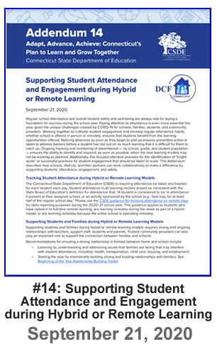 Addendum 14 - Supporting Student Attendance and Engagement