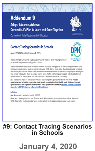 Revised Addendum 9 - Contact Tracing Scenarios in Schools