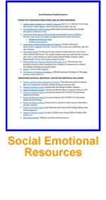 Social Emotional Resources